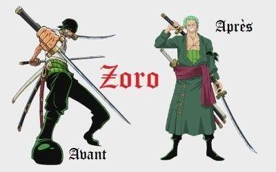 Zoro - Image one piece 2 ans plus tard ...